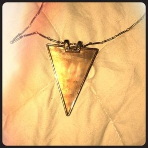 Beautiful triangular pendant gold necklace